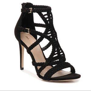 NEW ALDO strappy black stiletto sandals size 8